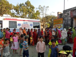 Rotary health camp at Maldah, India