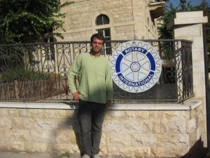 Former Scholar and Youth Exchange student Hunter Tanous at a Rotary club in Zahle, Lebanon.