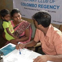 Maternal health camp on Delft Island