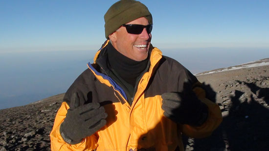 Macon Dunnegan on Mount Kilimanjaro