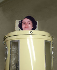 Diane WIlkins in an iron lung