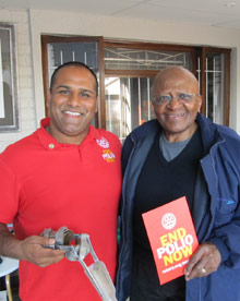 Ramesh Ferris and Archbishop Desmond Tutu
