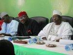 Nigeria's minister of health, C.O. Onyebuchi Chukwu, (left), took part in the mission. Chukwu is a Rotarian.