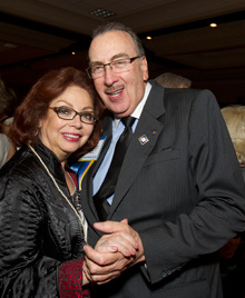 Past RI President Frank Devlyn and his wife dance during last year's International Fellowship Dinner and Dance.
