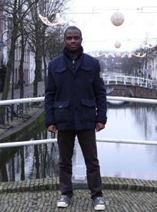 "Rotary Scholar Kenechukwu ""Kaycee"" Okoli in Delft, Netherlands."