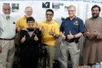 Three Rotarians and a Rotaractor from District 7080 (Ontario, Canada) participated in Subnational Immunization Days in Karachi and Lahore, Pakistan, in early March. Photo courtesy of Aziz Memon