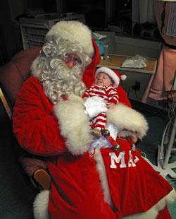Santa, aka Rotarian Bruce Templeton, in Canada.