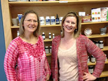 Judy Zabielski (left) and Laura Mueller, co-owners of Acacia Organics, in Barrington, Illinois, USA, benefitted from a microloan provided by the Barrington Breakfast Rotary Club.