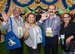 The chance to meet other Rotarians is a major attraction of the convention.