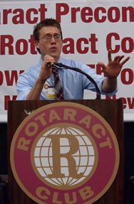 David Postic at the 2011 Rotaract Preconvention Meeting in New Orleans.
