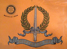 The club banner for the former Rotary Club of Batavia.
