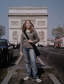 Erin Wagner as a Rotary Youth Exchange student in Paris, France.