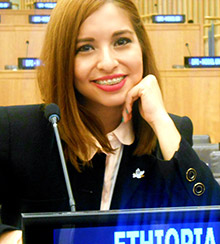 Elsa Garcia Soto at the United Nations in New York.