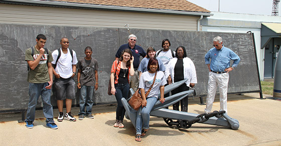 Students take part in a field trip as part of the Pathfinders program, a project of the Rotary Club of Rappahannock Fredericksburg, Virginia, USA.