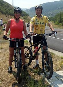 John and Marga Hewko training for the El Tour de Tucson