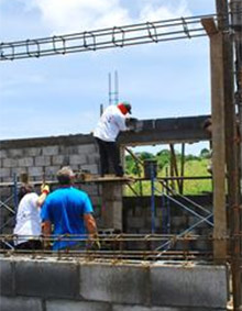 Construction on a new school in Masaya, Nicaragua. Photo courtesy Leonor Fraser