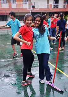 Interactors take part in an outdoor activity during the Famine Camp to raise money for World Vision.