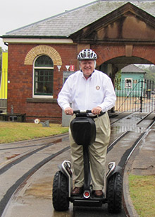 Mark Mahoney gets around Sydney on a Segway.