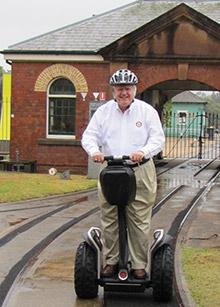Mark Mahoney gets around Sydney on a Segway.