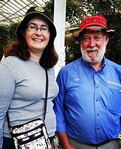Kate McKenzie meets a Melbourne Rotarian during her travels.