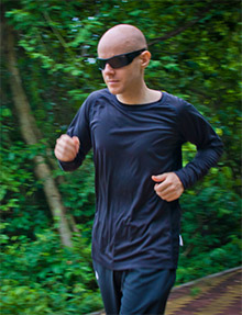 Neo LothongKum trains for his charity run.