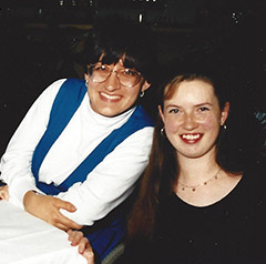 Denise and Samantha during their exchange year.