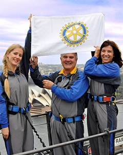 Rotary will be attempting to set two records during the BridgeClimb at the Sydney convention.