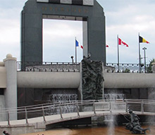 D-Day memorial in Bedford, Virginia, USA.
