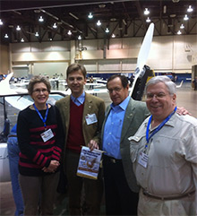 From left: Karen Hicks of Texas, Tilo Holighaus of Germany, Michael Graves of Texas, and Bob Mercier of Alaska, members of the International Fellowship of Flying Rotarians.