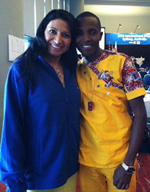 Dr. Mona Khanna and a participant in this year's International RYLA in Sydney.