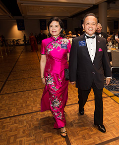 Gary and Corinna Huang at Rotary's annual training event, the International Assembly, in January.