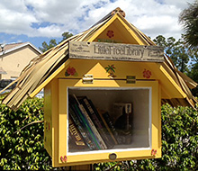 A Little Free Library in Palm Beach Gardens, Florida, USA.
