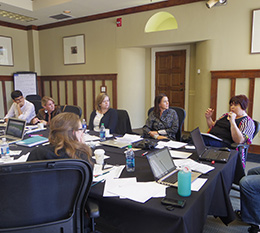 Rotary Peace Fellows take part in a leadership retreat.
