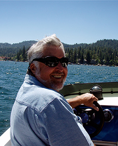 Larry Goodwin on his boat.