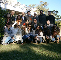 Members of the recently chartered Rotary Club of Plaza Matriz in Montevideo, Uruguay. Photo courtesy of Erin Mills