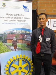 Athili Sapriina during the annual Rotary Peace Fellow seminar at the University of Queensland.