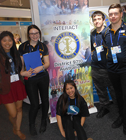 Interactors during a photo break at the Rotary Convention in Sydney, Australia.