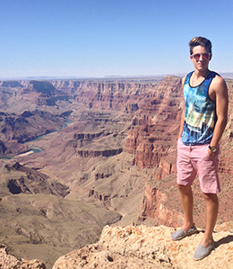 Jurag Gago visiting the Grand Canyon in Arizona, USA.