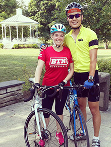 Alison Randall and her boyfriend, Jerry, during at a training ride for El Tour de Tucson.