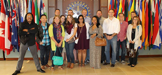 Rotary members who attended the Young Professional Summit 26-27 September.