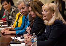 Honorees speak during Rotary's Women of Action event at the White House 7 October. Alyce Henson/Rotary International