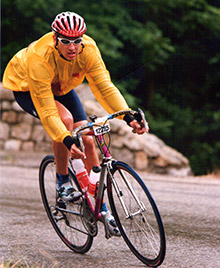 Marc Prevost on a training ride.