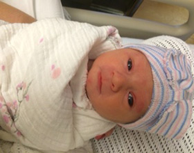 Lark, 5 pounds, 11 ounces at birth, is already a Paul Harris Fellow.