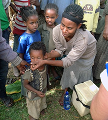 Polio immunization activities in Ethiopia. Your generous giving supports our work to rid the world of polio.