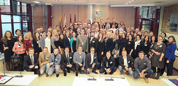 Rotaractors in Lithuania during their annual conference in District 1462.