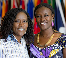 Monica Kinyua (right) and her sister, Jane Wanjiru, founded the Children's Peace Initiative Kenya. Read more about them in our flipboard.