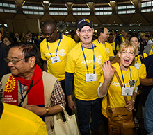 Rotary members make connections in the House of Friendship during the 2014 Convention in Sydney.