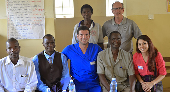 Members of the vocational training team in Uganda.
