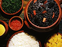 Feijoada, Brazil's national dish.