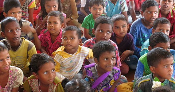Some of the children at the school we visited. Photo courtesy of the Rotary Club of Dombivli East